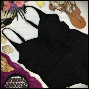 New Ava & Viv Plus Size Black One Piece Swimsuit